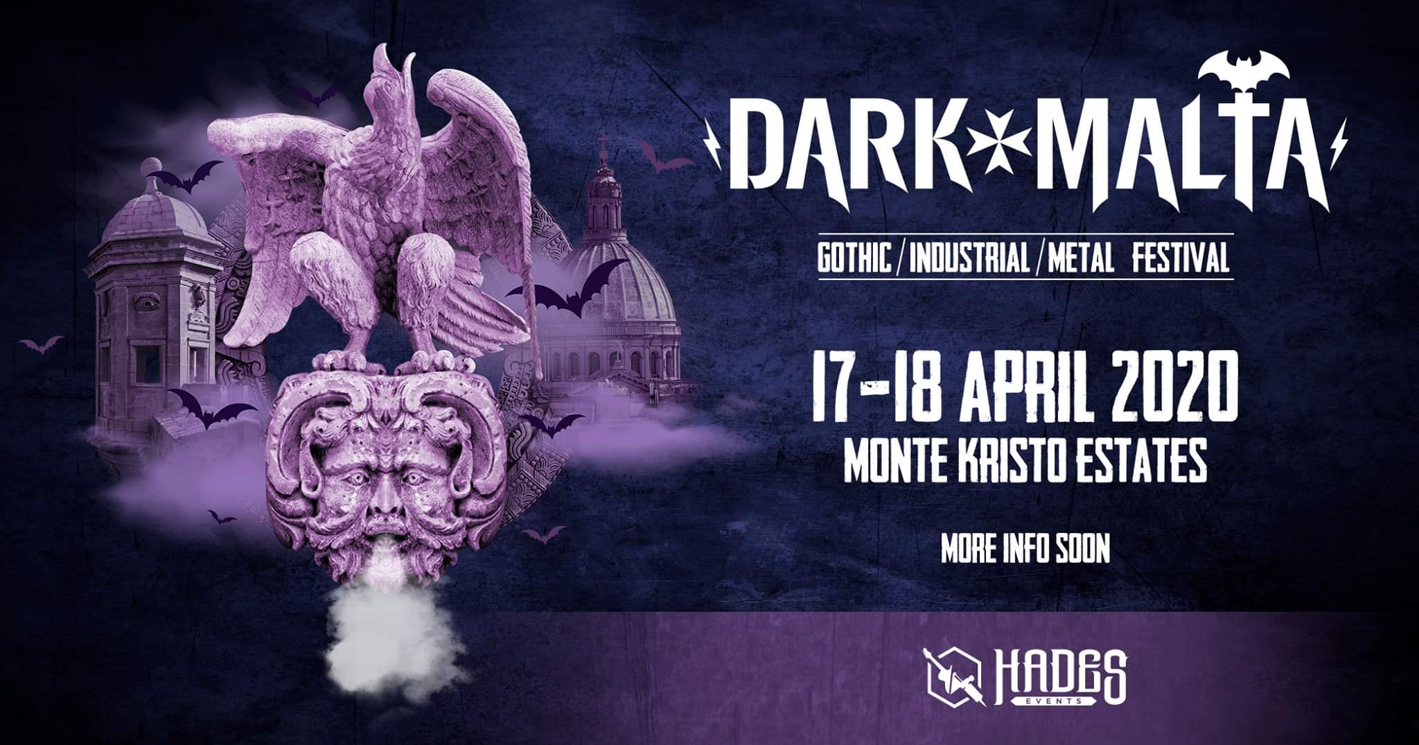 Dark Malta Festival is back for the 3rd Edition again offering you international gothic/metal/industrial bands on 2 days giving you an unforgettable experience bigger and better than the previous years including Headliners MONO INC, COVENANT, SOLAR FAKE, LAETHER STRIP, SHE PAST AWAY, NACHTMAR and more .....